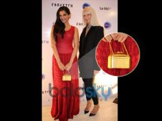 Sonam Kapoor with Golden Bag At The Le Mill - FarFetch Do