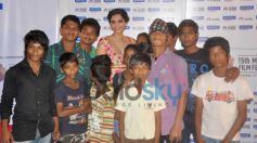 Sonam Kapoor with litle fans at Screening