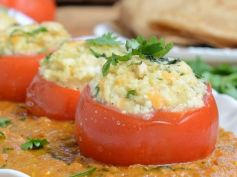 Delicious Stuffed Tomatoes in Malai Gravy Delicious