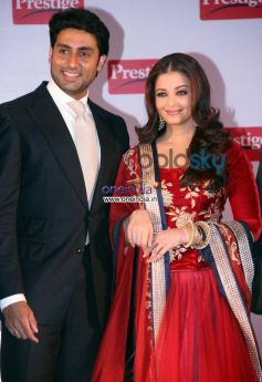 TTK Prestige signs Aishwarya, Abhishek as brand Ambassadors posing camera