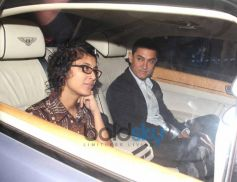 Aamir Khan and his wife at Tendulkar  farewell party