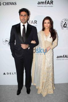 Abhishek Bachchan and Aishwarya Rai at the amfAR