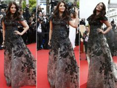 Best Looks Of Gorgeous Aishwarya Rai Black and Grey Lace Gown