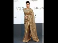 Best Looks Of Gorgeous Aishwarya Rai Golden Saree