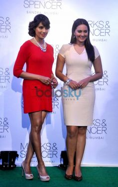 Bipasha Basu Sonakshi Sinha Marks & Spencer store at Event