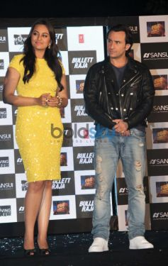 Sonakshi Sinha  and Saif Ali KhanBullet Raja Press Meet
