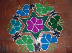 Colourful Stones Rangoli