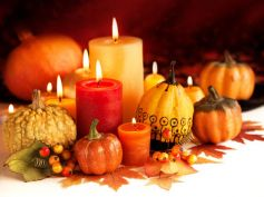 Decorate Home For Thanksgiving Candles