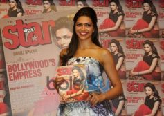 Deepika Padukone pose with  Star Week's Diwali edition