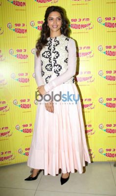 Deepika Padukone Promotion of film Ram Leela at Radio City