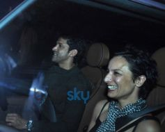 Farhan Akhtar at Sachin Tendulkar  farewell party