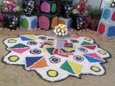 Flower Pot Rangoli