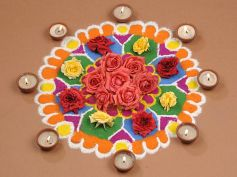Flowers With Diya