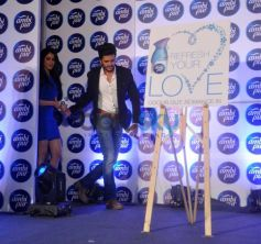 Genelia D'Souza and Riteish Deshmukh entering on stage