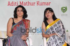 Gul Panag and Aditi Mathur Kumar on stage