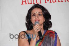 Gul Panag speaking media at Launch