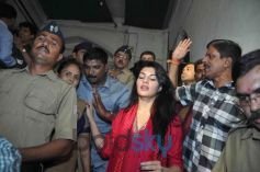 Jacqueline Fernandez at arrival to meets Mayor Sunil Prabhu