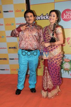 Jethalal and Daya at Nickelodeon Kids choice Awards at Filmcity