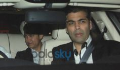 Karan Johar and Aamir Khan at Sachin Tendulkar farewell party 2013