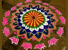 Lotus Print Rangoli