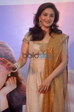 Madhuri Dixit launches pose at campaign