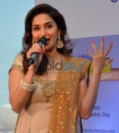 Madhuri Dixit launches Speaking to media at campaign