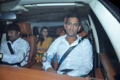 Ms Dhoni with his wife during Sachin Tendulkar  farewell party 2013