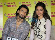 Ranvir Singh and Deepika Padukone at Radio City