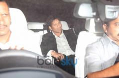 Sachin Tendulkar  during arrival to Party Hall