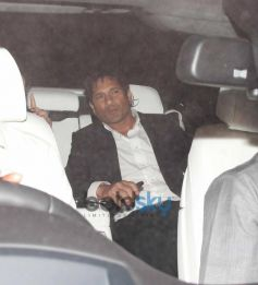 Sachin Tendulkar in his car at  farewell party
