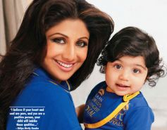 Shilpa Shetty with beautiful son Viaan Kundra