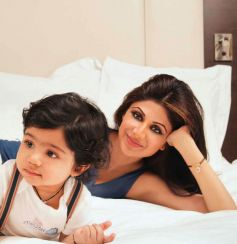 Shilpa Shetty with son Viaan Kundra