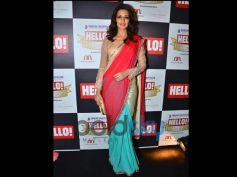Sonali Bendre In Designers Bright Saree Collection