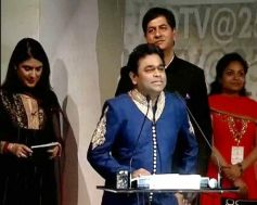 A R Rahman adressing media during a special event the rashtrapati bhavan auditorium