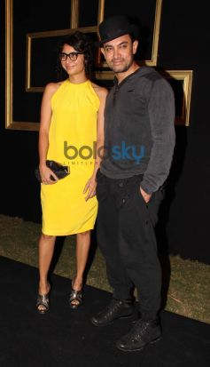 Aamir Khan with Kiran Rao Deepika Padukone Black and Gold Party