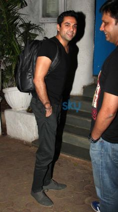 Abhay Deol with Friend at Olive