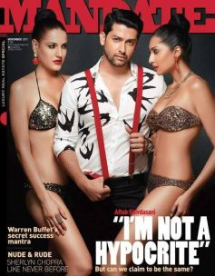 Aftab Shivdasani on the cover of Mandate magazine's November 2013 issue