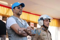 Akshay Kumar during Ride For Safety rally