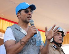 Akshay Kumar talking about Ride For Safety rally