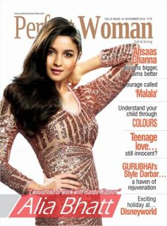 Alia Bhatt on the cover of Perfect Woman Nov 2013