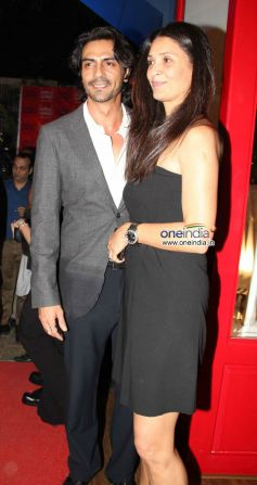 Arjun Rampal with his wife Mehr during Launch of the store Bandra 190