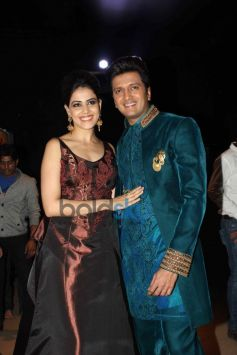 Riteish Deshmukh and Genelia d'souza During IBFW 2013 day 6