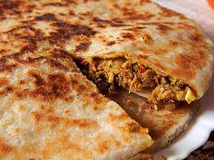 Capsicum & Cheese Paratha