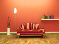 Crimson For Living Room