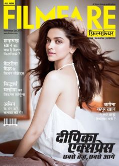 Deepika Padukone on the cover of Filmfare Hindi Nov 2013