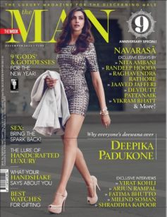 Deepika Padukone on the cover of The Man Why everyone
