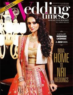 Dipannita Sharma on the cover of Wedding Times Dec 2013