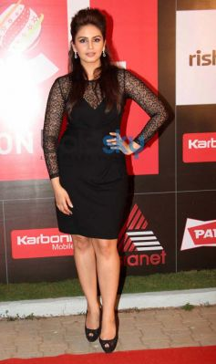 Huma Qureshi during CCL Inaguration Red Carpet 2014