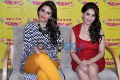 Huma Qureshi & Madhuri At Dedh Ishqiya Promotion at Radio Mirchi