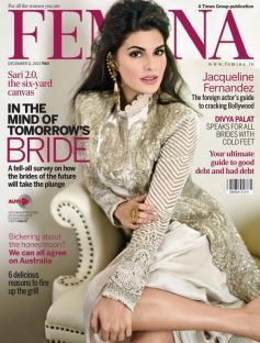 Jacqueline Fernandez on the cover of Femina Dec 2013